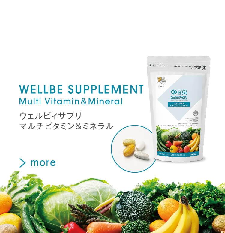 Wellbe supplement ウェルビィサプリ マルチビタミン&ミネラル