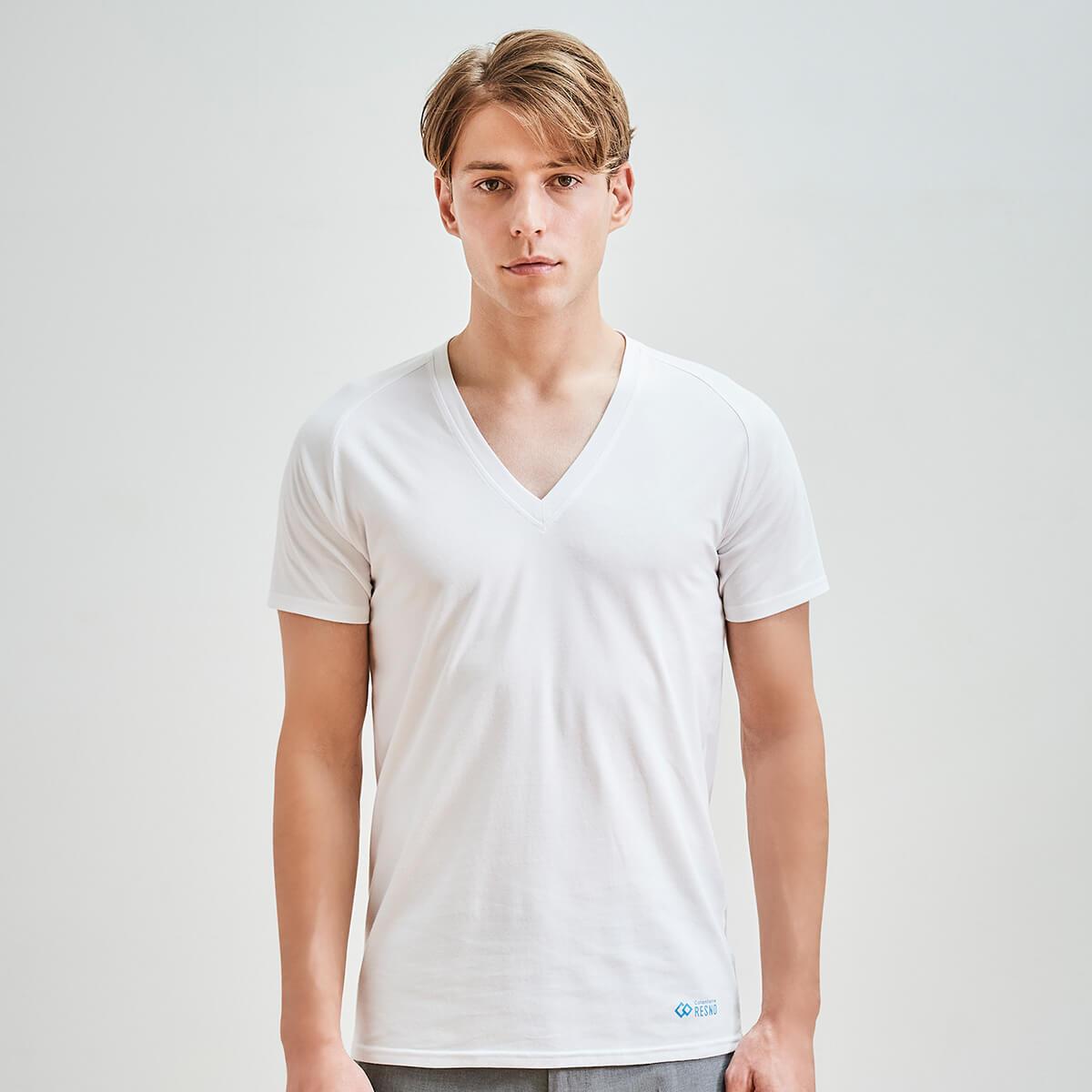 コラントッテ RESNO マグケアシャツ Vネック T ホワイト