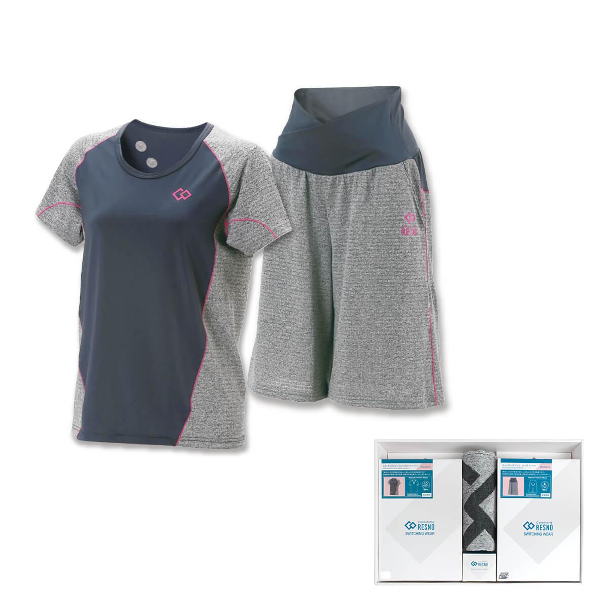 コラントッテRESNO スイッチングシャツ & パンツセット WOMEN'S(ショート × ハーフ)