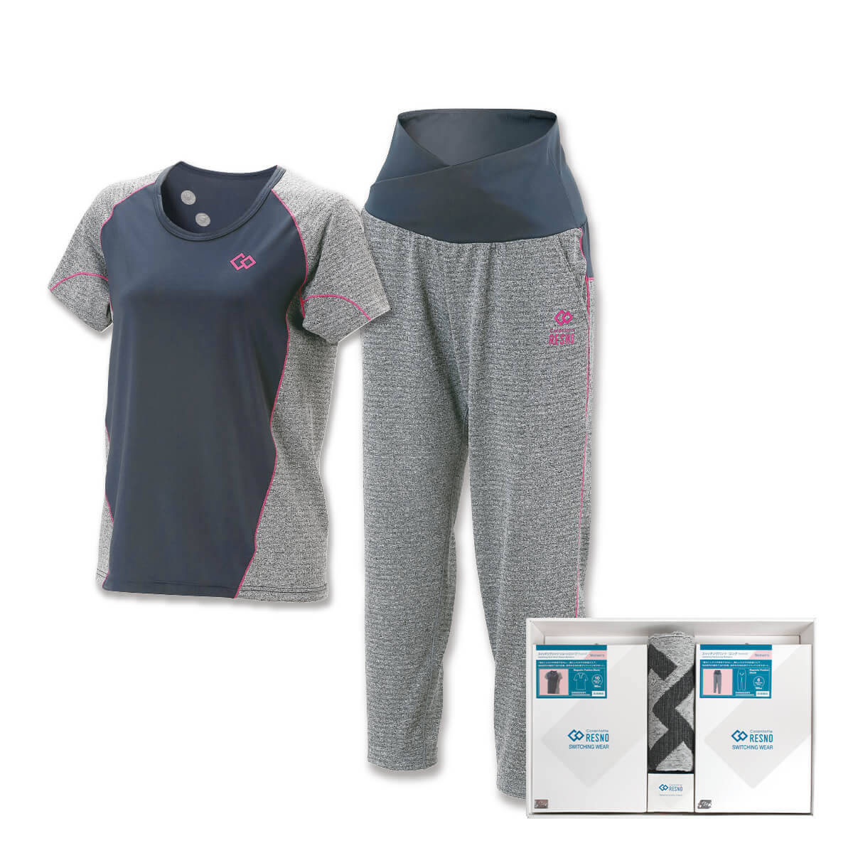 コラントッテRESNO スイッチングシャツ & パンツセット WOMEN'S(ショート × ロング)